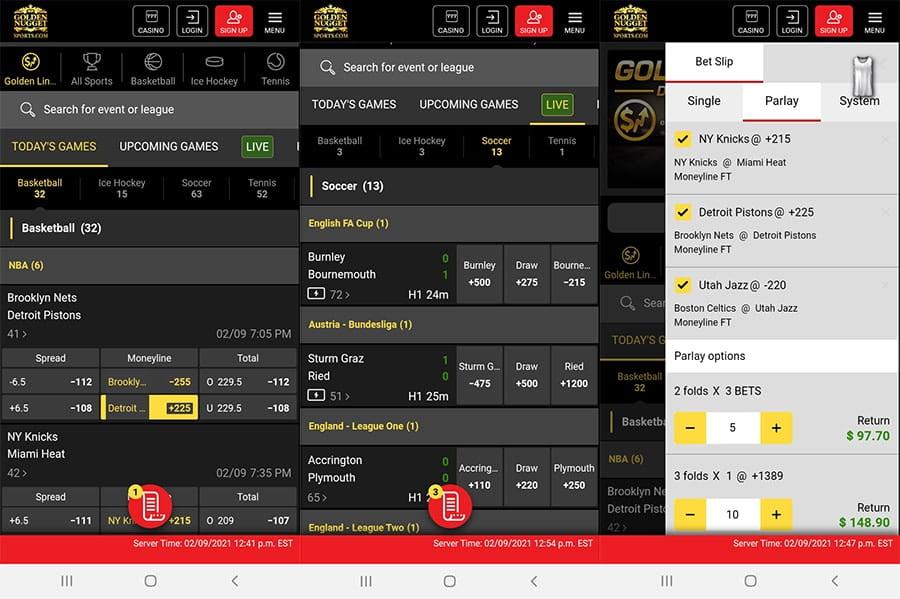 Golden Nugget Sportsbook Mobile